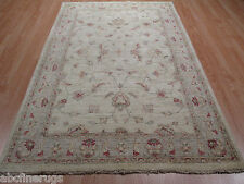 4x6 Muted Tabriz Allover-Pattern Vegetable Dye Handmade Knotted Rug 582539
