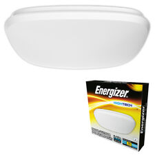 Energizer LED Flush Square Bathroom Ceiling Light Fitting IP44 Rated Cool White
