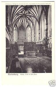 AK, Marienburg Westpr., Malbork, Die Marienburg, Kirche, Blick in den Chor, 1912