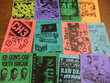 CBGB Repo Punk Flyer LOT Agnostic Front Crucifix COC Reagan Youth Ed Gein's Car
