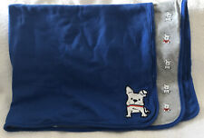 Carter's Just One You Blue White Gray Puppy Dog Receiving blanket