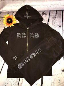 BCBG Maxazria dark brown Tracksuit - Hoodie & Jogger Pants EUC Sz. M/S
