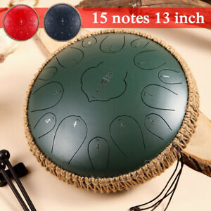 15 Notes 13'' Steel Tongue Drum Handpan D Major Hand Tankdrum + Bag + Drumstick