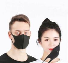 5 Stück Mundschutz / Gesichtsmaske schwarz, waschbar