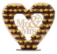 Wedding Ferrero Rocher Stand Centrepiece Display Mr & Mrs Heart Tree