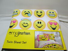 New Emojination Happy Happy Twin Sheet Set ~ Yellow, Pink, Black, Blue, Grey Nip