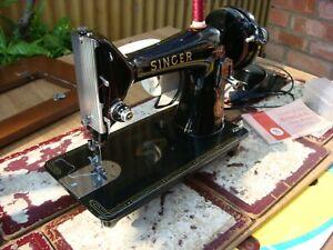Antique Old Vintage Electric  Singer Sewing Machine Model 99K  See Video