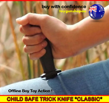 Toy Plastic Dagger Knife Retractable SLIDE IN Blade Fun Joke Prank Party Toy AU