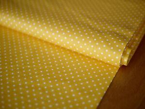 RILEY BLAKE Patchworkstoff, Pünktchenstoff,Dots, gelb-weiß getupft,Punkte,100%BW