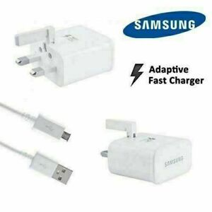 GENUINE SAMSUNG GALAXY FAST CHARGER WHITE PLUG USB FOR Ace, S3, S4, S5, S6, S7