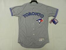 Authentic Toronto Blue Jays Road Gray Flex Base Jersey 40