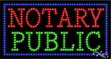 """New """"Notary Public"""" 32x17 Solid/Animated Led Sign w/Custom Options 21100"""