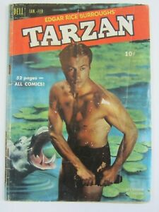 TARZAN #19 GD/VG DELL COMIC 1951, EDGAR RICE BURROUGHS APE MAN, LEX BARKER COVER