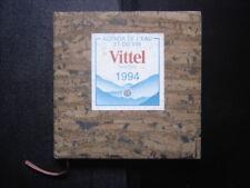1994 Agenda Calendrier etiquette VITTEL de l eau et du vin Couverture liege