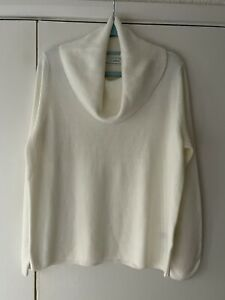 Marks And Spencer Roll Neck Jumper Size 14 White Cream Long Sleeve
