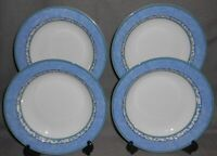 Set (4) MIKASA Fine China SUSANNE PATTERN Rimmed Soup Bowls MADE IN PORTUGAL