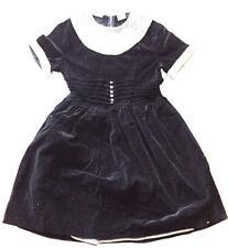 VINTAGE TINY TOWN TOGS Girl's Black Velvet Party Dress Sz 8 Bonwit Teller 1950's