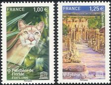 France (UNESCO) 2016 Panther/Ephesus/Buildings/Heritage/Animals 2v set (n45311s)