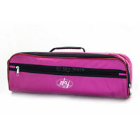 **GREAT GIFT**New C Flute Hard Case Cover w Side Pocket/Handle/Strap Pink