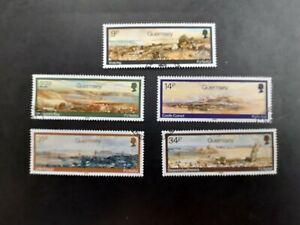 Guernsey stamps. (1985). Paintings by Paul Jacob Naftel. Set of Five. Fine used.