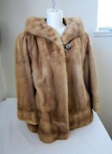 Omaha Natelsons Lincoln Women's Vintage 60's Fur Jacket Brown Fuzzy Mink Coat