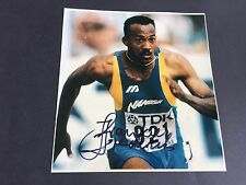 FRANK FREDERICS 4 x OLYMPIASILBER (100/200m) signed 20x21 Photo In-Person