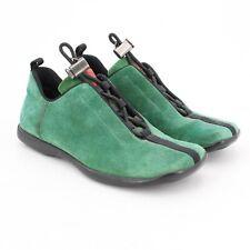Prada Sport Women's 3437 Green Suede Athletic Walking Shoes Size 36