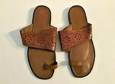 Brown Laser cut Leather Sandals by Newport News Women's Size 9