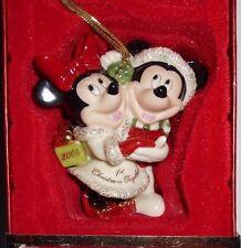 NIB 2004 Lenox Mickey Minnie Mouse First Christmas Together Keepsake Ornament