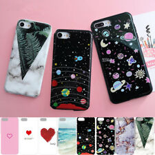 For iPhone X 8 7 6s Plus Shockproof Cute Patterned Slim Soft Rubber Case Cover