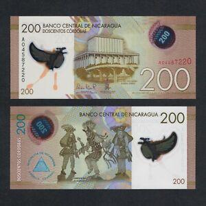 2014 NICARAGUA 200 CORDOBAS POLYMER P-213 UNC> > > >RUBEN DARIO NATIONAL THEATER