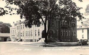 H70/ Port Clinton Ohio RPPC Postcard c1950s City Hall Building 158