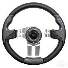 Golf Cart Aviator 5 Carbon Fiber Grip/Brushed Aluminum Steering Wheel
