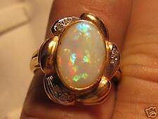 14kt yellow gold Fire Opal ring, lady's