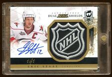 THE CUP ERIC STAAL CAM WARD AUTO 1/1 DUAL SHIELD LOGO  AMAZING PULL  1/1 LOGO