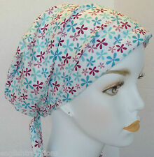 Fun Cheerful Cancer Hat Chemo Hairloss Fitted Padded Scarfs Turban Headwrap
