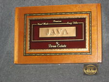 Java Drew Estate Java Robusto Latte Empty Wooden Cigar Box with wood hinge