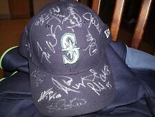 SEATTLE MARINERS SIGNED HAT NEW ERA WOW L@@K VERY RARE! PROOF!