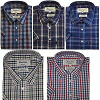 Champion Mens Short Sleeve Shirt Yarn Dyed Polyester Cotton Fine Quality Shirt