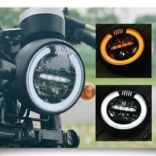 35 W HIGHSIDER 12 V Faro anteriore per moto luce gialla L Schwarz L con supporto H4