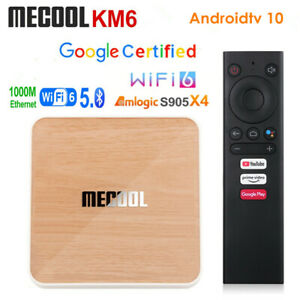 Mecool KM6 Deluxe ATV Google Certified Android 10 Amlogic S905X4 4G 64G 4K H.265