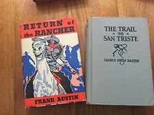 Lot of 2 Austin Return of the Rancher 1933, The Trail to San Triste Baxter 1927