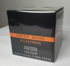 Encre Noire A L'extreme by Lalique 3.3 / 3.4 oz Eau De Parfum Spray for Men NIB