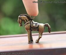 China Pure Bronze Copper Feng Shui Horse Tang Steed Lucky Animal Pendant T097