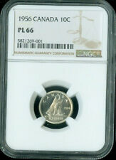 1956 CANADA 10 CENTS NGC PL-66  **