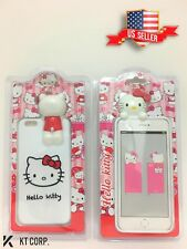 USA Seller !!! 3D Hello Kitty TPU Phone Case for iPhone 6 Plus / 6s Plus - White