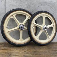 "1984 GT Performer Wheel Set Tires Skyway Mags 20"" Old School BMX Freestyle"