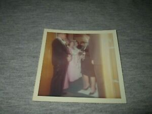 GHOST APPARITION IN WEDDING RECEIVING LINE-PARANORMAL-1960s ERA SNAPSHOT PHOTO