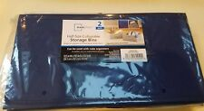New in Package Mainstays Half-Size Collapsible Storage Bins - Set Of 2 (Blue )