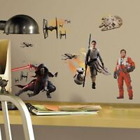 RoomMates Star Wars Ep 7 15 pcs Peel and Stick Wall Decals 74237